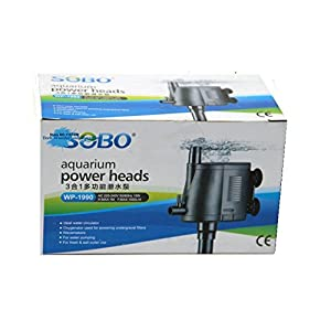 Sobo WP-1990 Multifunction Submersible Pump for Aquarium Fish Tank Power Heads Water Pump