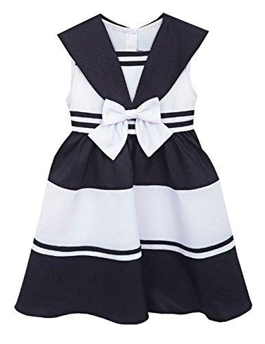 Rare Editions Little Girls' Sailor Nautical Dress, Navy/White (5)