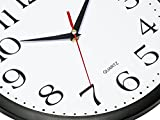 Bernhard Products Black Wall Clocks, 2 Pack