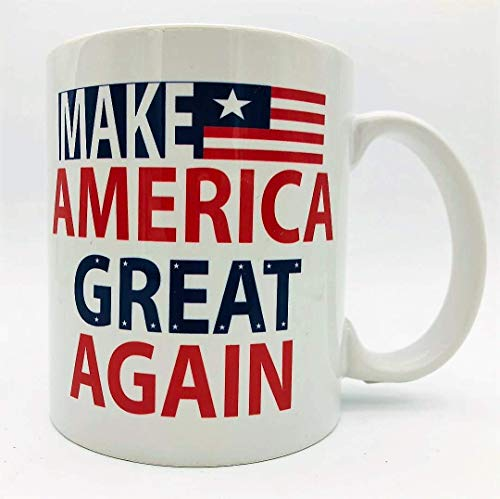 A137 Make America Great Again Coffee Mug, Tea Cup, Donald Trump, us flag, 11 oz ceramic white mug,