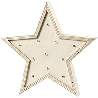 Caja de luz, estrella, 26 cm, madera contrachapada, 1 unidad, 3,5 cm de profundidad: Amazon.es: Amazon.es