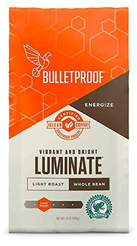 (Bulletproof Luminate Light Roast Coffee - Premium Gourmet Light Roast Organic Beans, Rainforest Alliance, Certified Clean Coffee, Whole Bean)