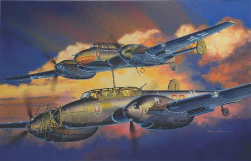 Night Fighter Kit - Dragon Models 1/32 Bf110D/E Night Fighter Wing Tech (2 in 1)