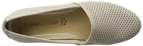 412 24709 Marco Beige Mocassins dune Metallic Tozzi Femmes Award Pour HxxzRqpf
