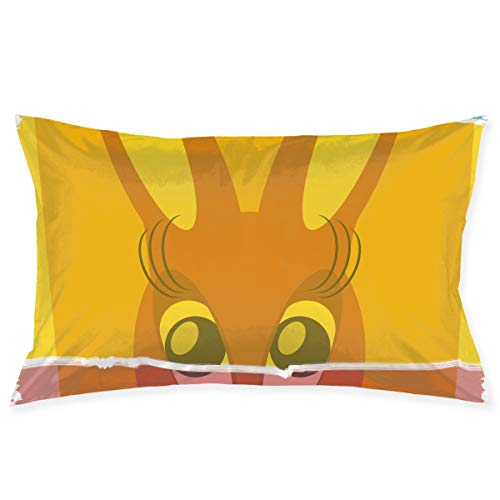 KKIaleph Printed Pillowcase, Easter Bunny Don't Exist Been Cancelled Decorative Standard Queen Size 30 X 20 Inches -