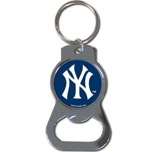 (MLB New York Yankees Bottle Opener Key Chain, Metal,)