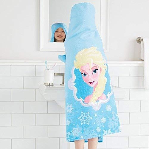 Disney Frozen Elsa Hooded Towel Wrap for Swimming Pool, Bath, or Beach by Disney