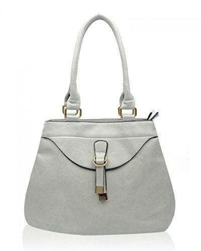 Gray A4 Femme CW15008 LeahWard® Épaule Femme Compartments Sacs deux Main Taille Sacs À Grete fermeture Ash éclair Pour ww6qBT
