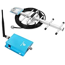 62dB 850MHz 3G GSM CDMA Cell Phone Signal Booster Kit with Indoor Whip Antenna and Yagi Antenna for Home/Office Use