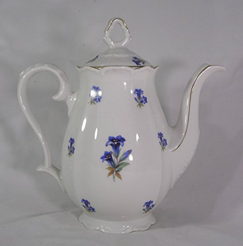 Germany Demitasse (Bareuther Cornflower Demitasse Server, made in Bavaria, US ZONE)