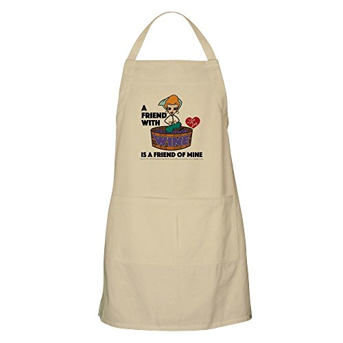 - CafePress I Love Lucy: Wine Friend Apron Kitchen Apron with Pockets, Grilling Apron, Baking Apron
