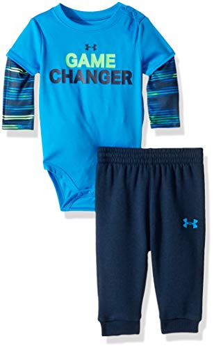 Under Armour Boys Two Piece Graphic Tee and Pant Set, Blue Circuit Game Changer 18M ()