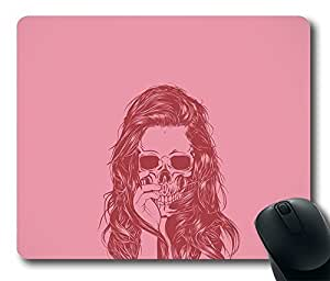 Design Mouse Pad Desktop Laptop Mousepads Beautiful Girl Skeleton Comfortable Office Mouse Pad Mat Cute Gaming Mouse Pad