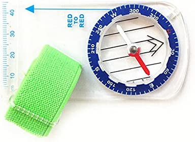 New Outdoor Mini Thumb Compass with Map Scale for Orienteering Hiking Camping