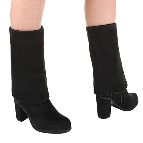 Stiefel 36 Damen Schuhe Leicht Gefütterte 40 38 41 37 Schwarz 39 Overknee Schwarz 1qxRwYr5x