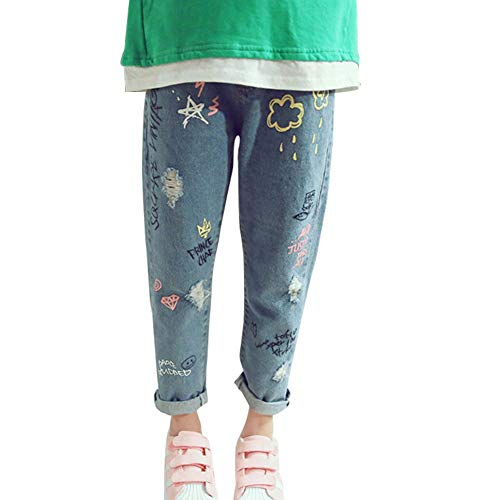 Baby Girls Jeans Denim Carton Rabbit Pants for 3-13 Years Old
