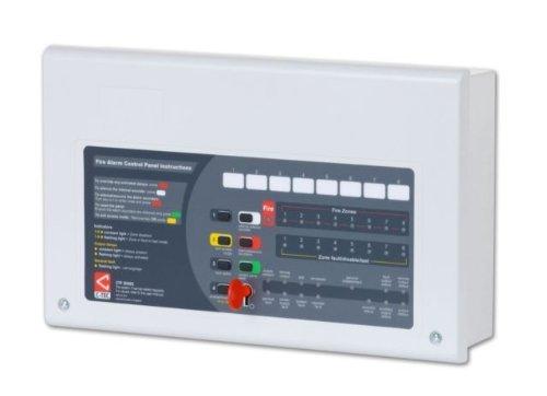 TC443 - C-TEC CFP708-2 ALARM 8 ZONE 2 WIRE CONVENTIONAL FIRE ALARM CONTROL PANEL