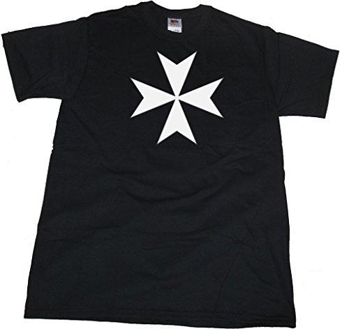 got-tee-maltese-cross-knights-of-malta-t-shirt-l-black
