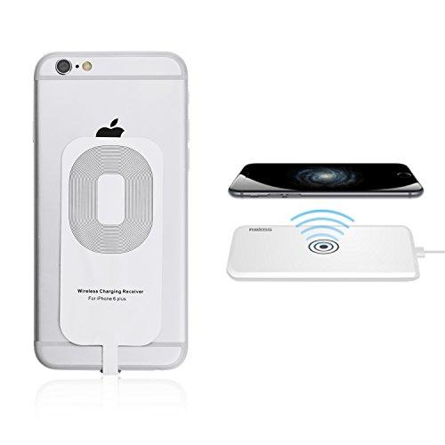 iProtect Qi Wireless Charging Receiver Apple iPhone 6 Plus Adaptateur de recevant pour une charge inductif sans âble blanc