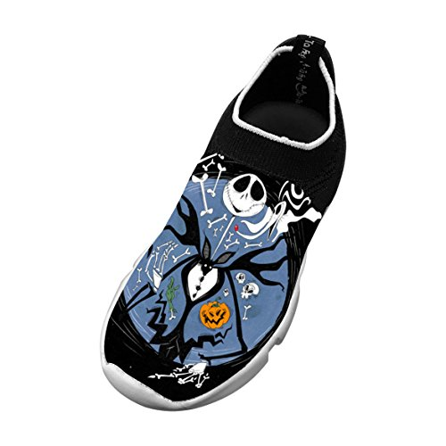 Price comparison product image 2018 New Cartoon Halloween Skeleton Xmas Customized Cartoon Xmas Christmas Printing Casual Fly Knit Comfortable Running Shoes for Kids