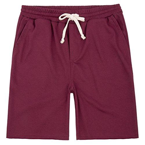 PAUL JONES Men's Elastic Waist Casual & Loose Fit Jogger Gym Short Size XL Wine Purple Loose Fit Shorts