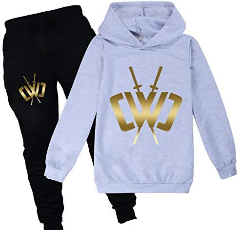 PXFX Chad Wild Clay Printed Kids Boys Girls Hoodies Top and Pants for Teenager CWC Tracksuit
