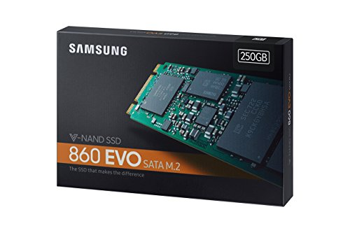 Samsung 860 EVO 250GB M.2 SATA Internal SSD (MZ-N6E250BW) by Samsung