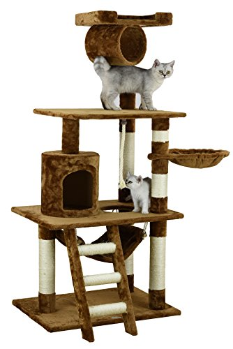 Go Pet Club Condo para gato F68, marrón, 157 cm