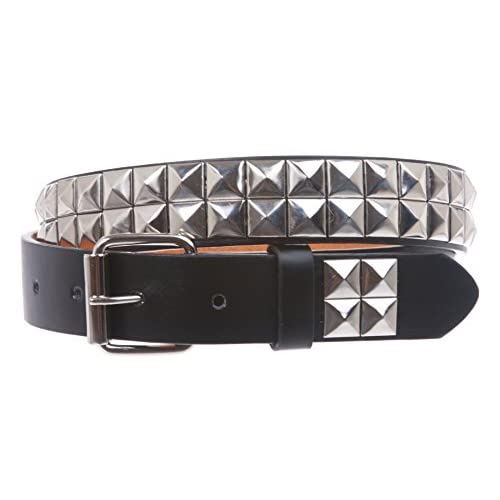 "Kids 1"" Snap On Punk Rock Studded Leather Belt get discount"