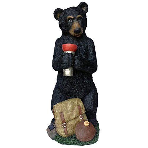 Design House 328229 Solar Bear Holding Flashlight Statue, 31.8-Inches by Design House