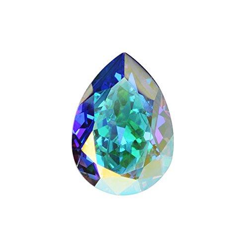 Swarovski Crystal, #4320 Pear Fancy Stone 18x13mm, 1 Piece, Crystal AB F