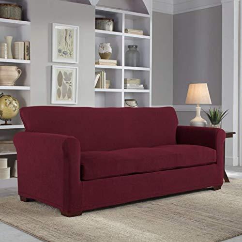 neverwet luxury sofa slipcover garnet