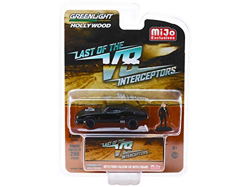Greenlight 1973 Ford Falcon XB with Figure The Last of The V8 Interceptors (1979) Movie Limited Edition to 4,600 Pieces Worldwide 1/64 Diecast Model Car 51208 (Interceptor Max Mad)