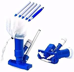 Piscina Spa Pond Mini Jet Vac Vacuum Cleaner w/cepillo, bolsa, y 4'Polo