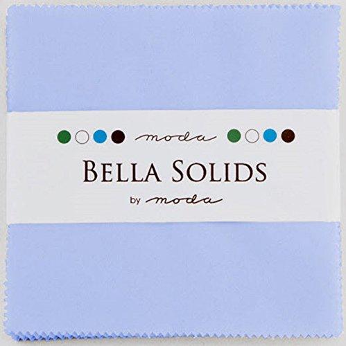 Quilt Blue Fabric Dark (Bella Solids Baby Blue Moda Charm Pack By Moda Fabrics; 42-5