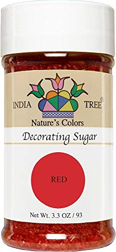 India Tree Nature's Colors Decorating Sugar - Red - 3.3 Ounce from India Tree