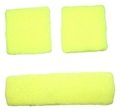 Neon Nation Sweatband Combo Set 2 Wrist & 1 Headband (Neon -