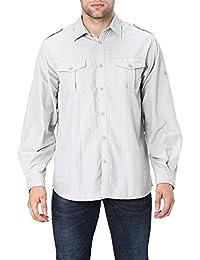 Men's Quick-Dry Nylon Breathable Convertible Long Sleeve Fishing Shirt