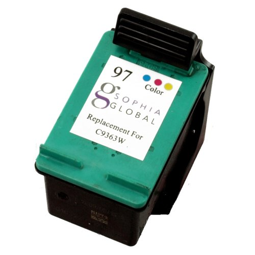 Sophia Global Remanufactured Ink Cartridge Replacement for HP 97 (1 Color)