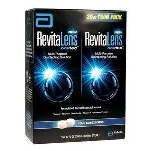 RevitaLens Multipurpose Solution et Lens Case-10 oz, Twin Pack