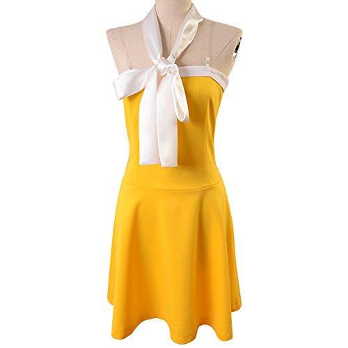Levy Mcgarden Cosplay Costume (Ya-cos Lolita Top Levy McGarden Sweet Dress Cosplay Costume Yellow)