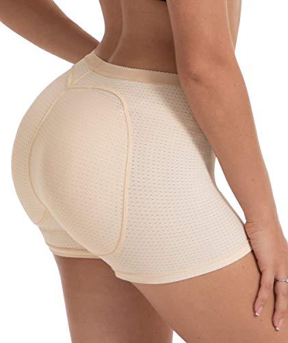 NINGMI Women Butt Lifter Padded Shapewear Enhancer Control Panties Body Shaper Underwear (XX-Large, Nude884)