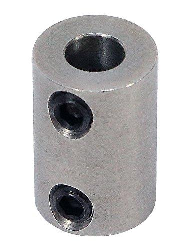 6mm to 6mm Stainless Steel Set Screw Shaft Coupler ServoCity 625230