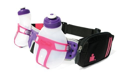 FuelBelt Ironman Collection R2O 2 Bottle Belt, Pink/Purple, One Size
