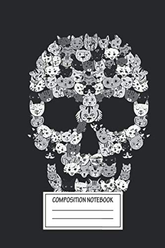 Halloween Skeleton Head Drawing (Notebook: Skull Cats , Journal for Writing, Size 6