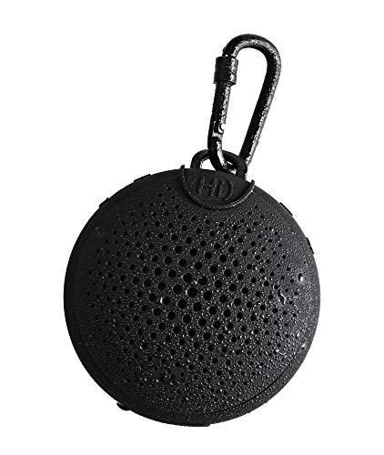 BOOMPODS AQUABLASTER - Waterproof Bluetooth Portable Wireless Speaker with Amazon Alexa - Hi-Quality Sound - Awesome Listening in Shower at The Pool or The Beach (Black)