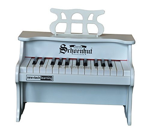 Schoenhut 25 Key Digital Table Top Toy Piano, White, One Siz