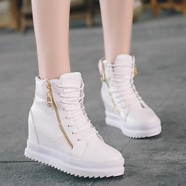 Bianco E Comfort Casuale 1 Bassa Stivali Gll Bianco Xuezi 3 Nero Tallone Donna 4in Cadere 1in Da Pu PSxUqnp