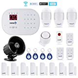 Works with Alexa -App Controlled Updated S03 WiFi and Landline Security Alarm System Deluxe Kit Wireless DIY Home Security System by Fortress Security Store- Easy to install