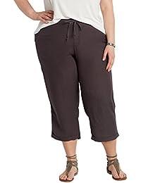 Maurices Women's Plus Size Linen Capri